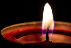 Single candle up close
