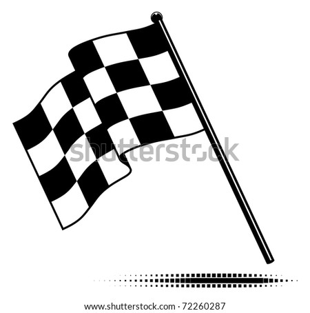 Black And White Cross Flag. Black and white