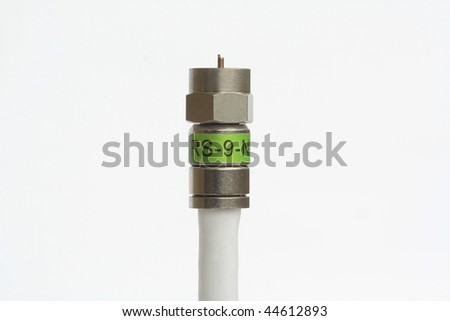 Single coaxial cable with connector