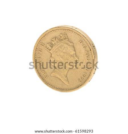Single coin from great britain