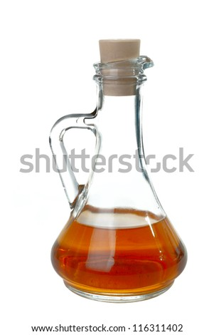 Single decanter isolated on white background