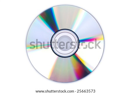 Single disc cd dvd isolated on white.