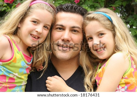 single father with twin daughters