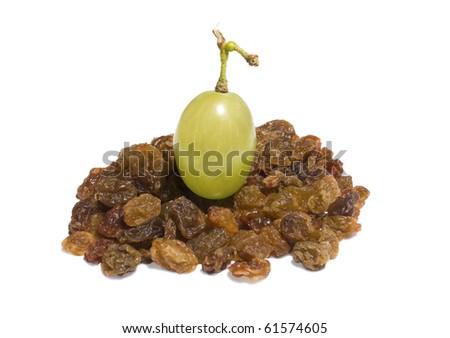 stock photo single raisin isolated