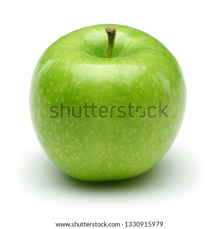 Single Granny smith apple isolated on white background