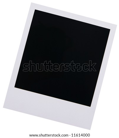 Single high resolution old instant photo film blank isolated on white background