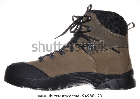 Single hiking boot for mountaineering