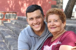 Single Hispanic mature mother with only one adult son