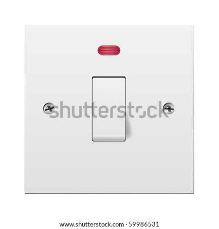 Single light switch with Neon