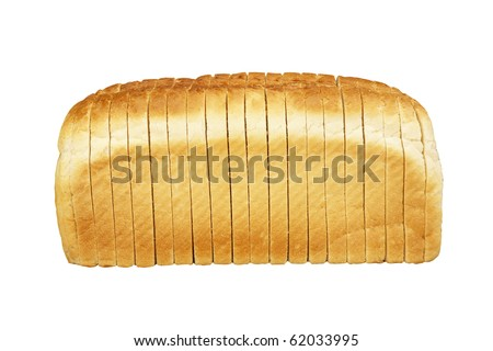 White Bread Loaf Single Loaf of Sliced White