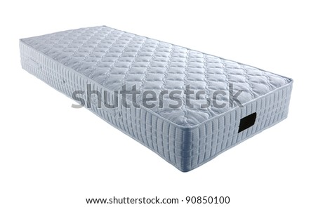 single mattress isolated on white