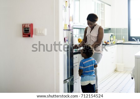 Single mom enjoying precious time with her child