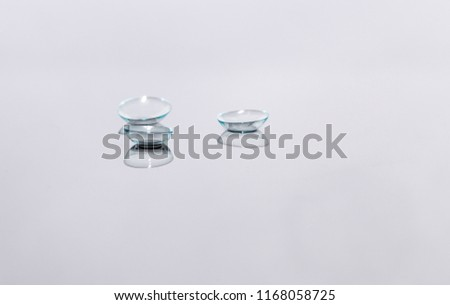 Single Object, Contact Lenses, Lens - Optical Instrument, Disposable. Macro Photography #1168058725