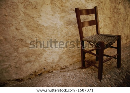 Single Old Broken Wooden Chair 1687371