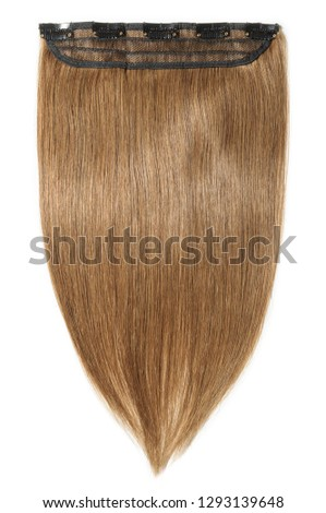 single piece clip in remy straight medium brown human hair extensions #1293139648