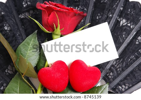 Single red rose with love note paper. Put your own message on it!