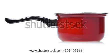 single red srewpot isolated on white background