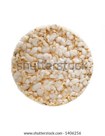 Single Rice Cake isolated