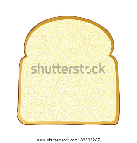 Single slice of wholemeal white bread with crust