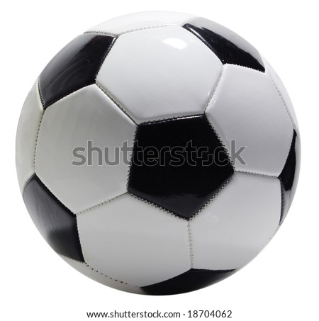 Single soccer ball isolated on white background, clipping path included