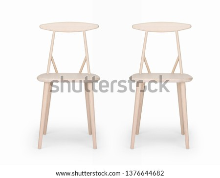 single sofa chair on white background  #1376644682