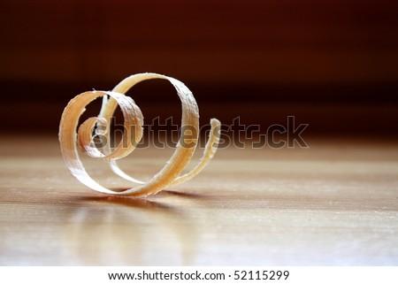Single spiral woodchip - stock photo