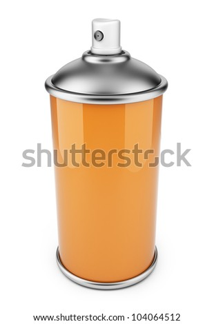 Single spray can. 3D icon isolated on white background