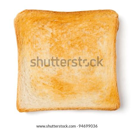 single toast against white background ストックフォト ©