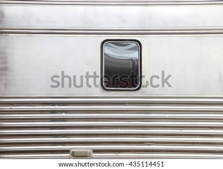 single window on train bogie