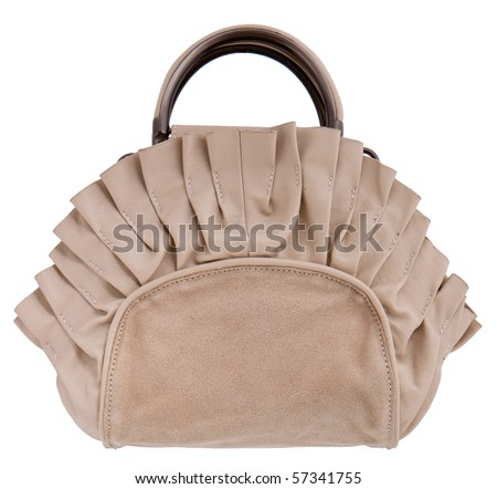 single women bag isolated on white background