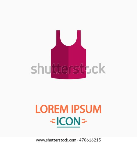 singlet Color icon on white background. Flat pictogram