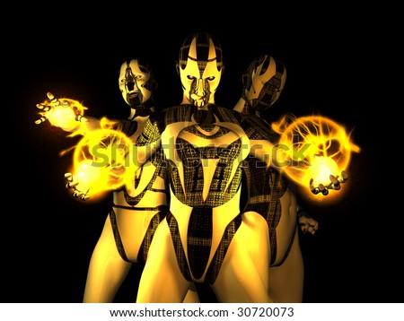 sinister evil cyborg group