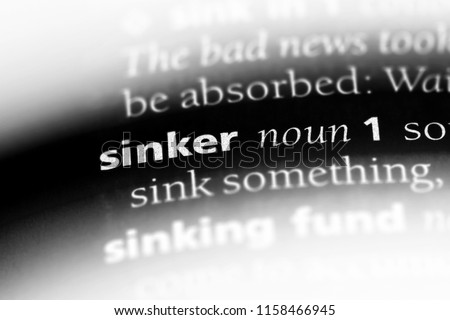 sinker word in a dictionary. sinker concept. #1158466945