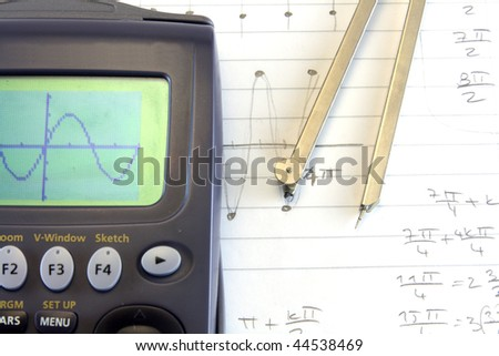 sinus math with calculator and compasses