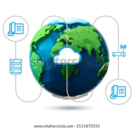 SiP Trunk for business and Voip Stock photo ©