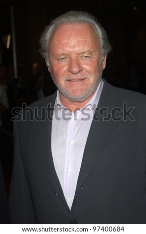 SIR ANTHONY HOPKINS & wife at the 2003 Hollywood Awards at the Beverly Hills Hilton. Oct 20, 2003  Paul Smith / Featureflash