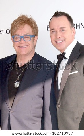 Sir Elton John and David Furnish at the 18th Annual Elton John AIDS Foundation Oscar Viewing Party, Pacific Design Center, West Hollywood, CA. 03-07-10
