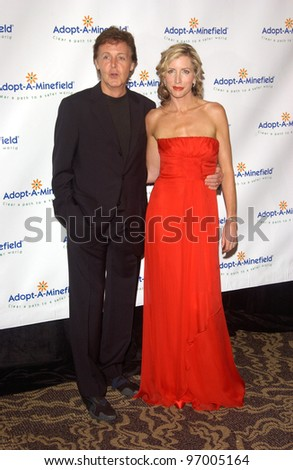 SIR PAUL McCARTNEY & wife HEATHER MILLS McCARTNEY at the 4th Annual Adopt-A-Minefield Gala at the Century Plaza Hotel, Beverly Hills, California. October 15, 2004