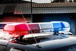 siren on police car