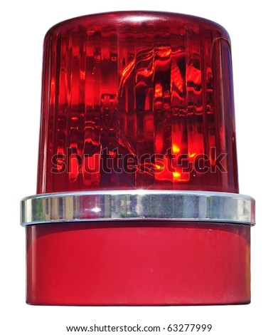 Siren real isolate revolving light color