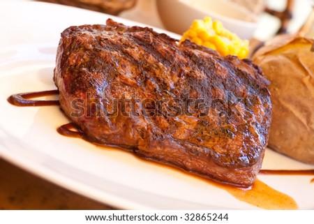 Sirloin Strip Steak with baked Potato