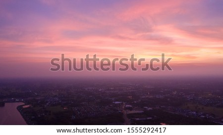 Photo of  Sisaket (Thailand) with beautiful sky Sisaket at night