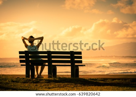 Photo of Sit back relax and enjoy the beautiful sunset view.