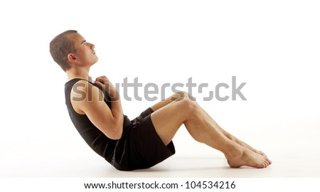 Sit ups - stock photo