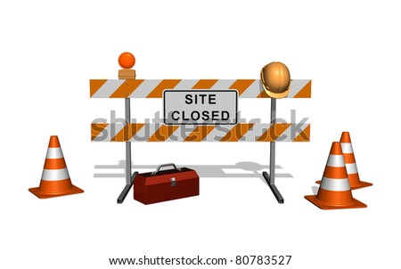 Site is under construction. Isolated on the white background