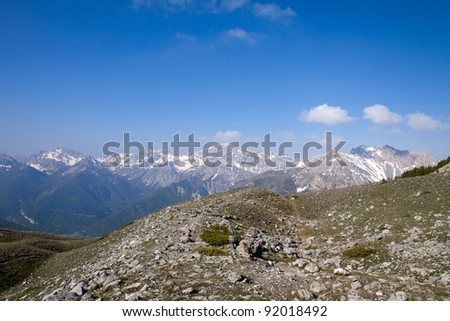 Site of the Lake Shoe, Park of Queyras, department of the high Alps, France #92018492