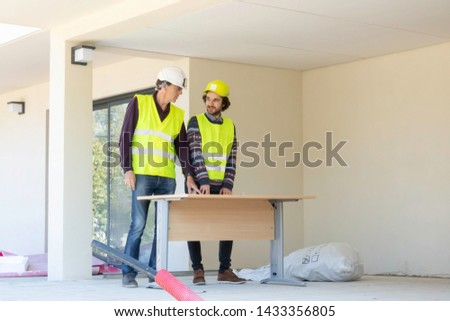Site visit, site meeting, Architect and site manager #1433356805