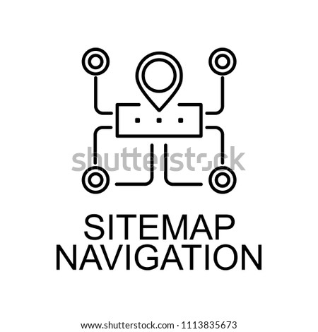 sitemap navigation line icon. Element of seo and web optimization icon with name for mobile concept and web apps. Thin line sitemap navigation line icon can used for web and mobile on white background