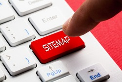 SITEMAP word concept button on keyboard