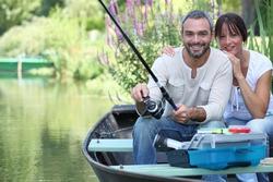 sitting  boat fishing